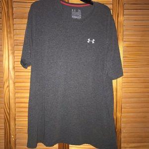 Gray Under Armour Short Sleeve Tee Shirt